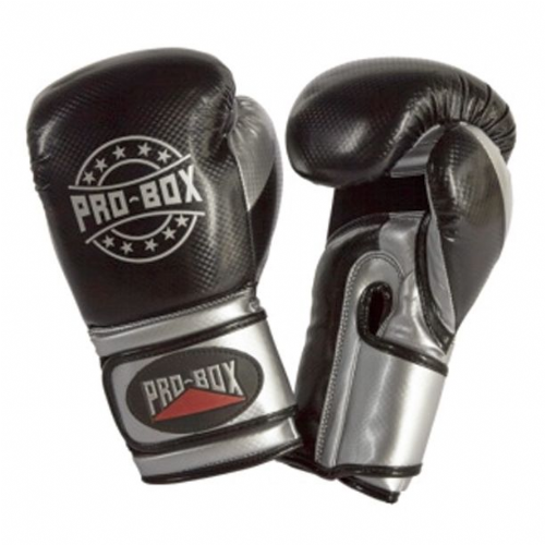 Pro-Box Champ-Spar Boxing Gloves - Black/Silver